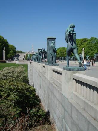 Vigelandsparken sculpture park in Oslo