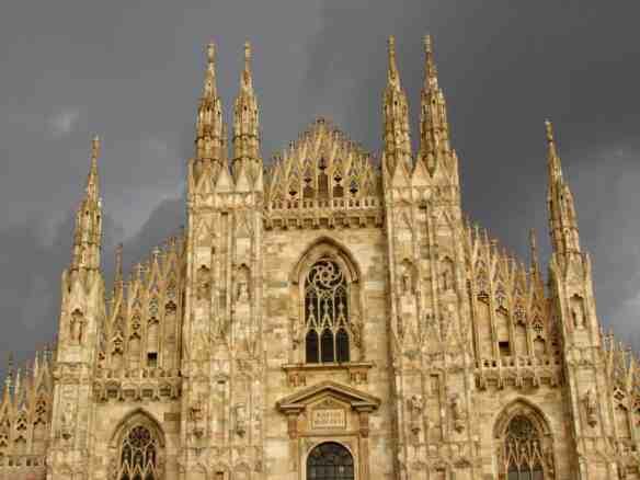 Milan Duomo in storm clouds