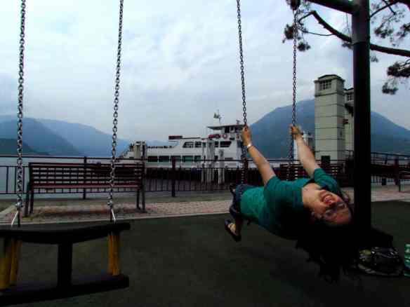 Lake Como park swing