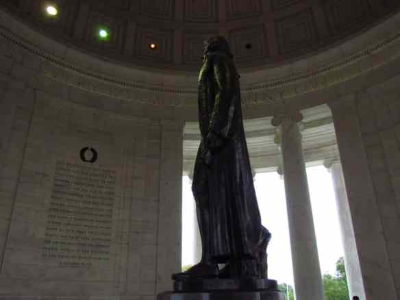 The Jefferson Memorial in Washington, DC is an inspiring place. While Thomas Jefferson wrote against slavery, he also owned many himself.