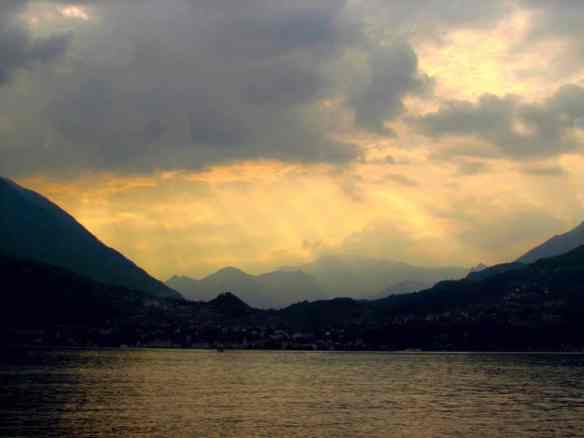 sunset at Varenna