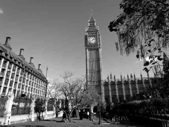 Big Ben in Black and White, London, England
