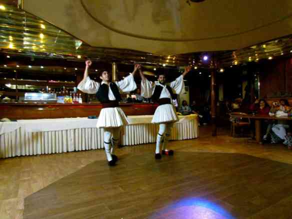 Greek dancing on Athens One Day Cruise