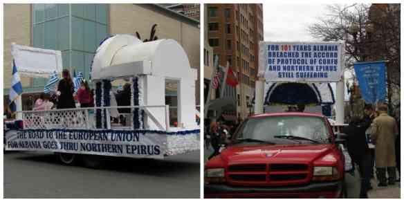 Northern Epirus Albania protest float