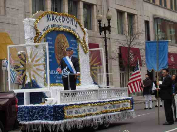 Macedonia float, Greek Independence Day Parade