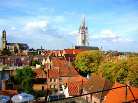 The rooftop view of Brugge at the De Halve Maan Brewery, a member of the Belgian Family Brewers Alliance.
