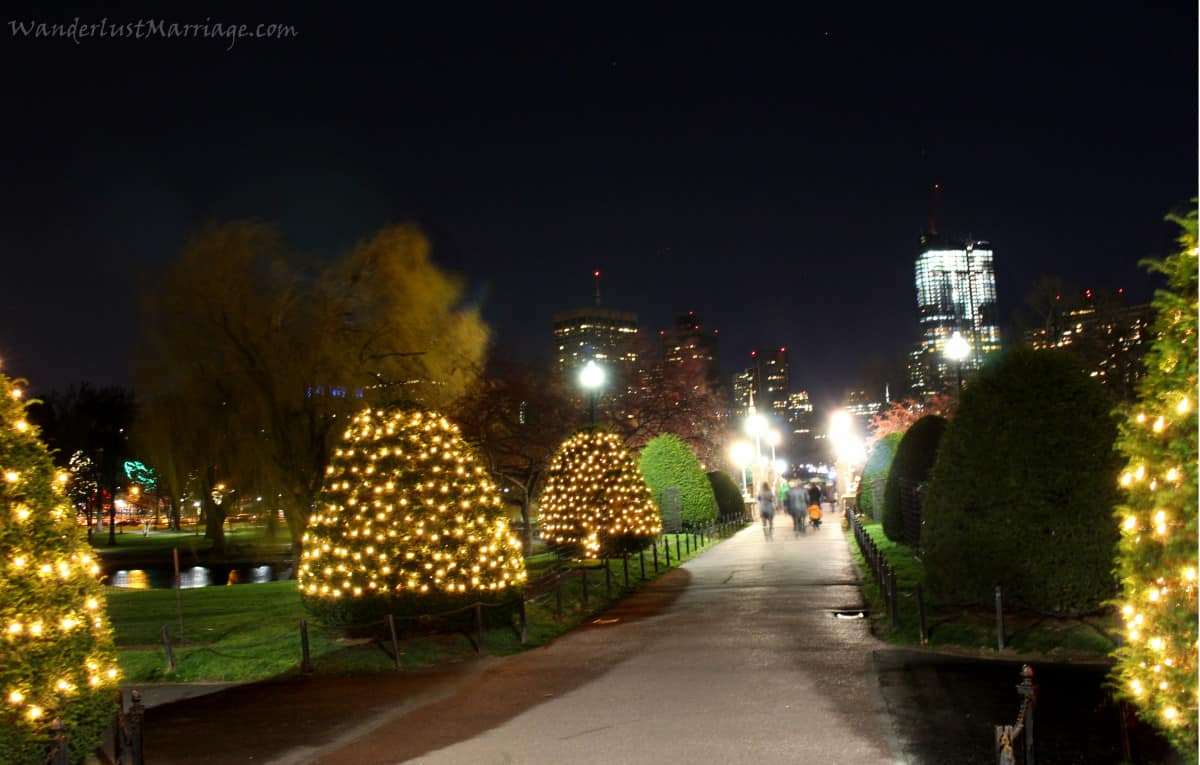 Christmas lights of boston in 2015 wanderlust marriage boston public garden lights sciox Images
