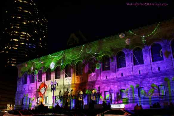 Public Library, Christmas Lights of Boston