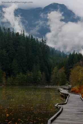 Walkway at One Mile Lake - British Columbia