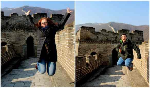 Great Wall of China Jump at Mutianyu section