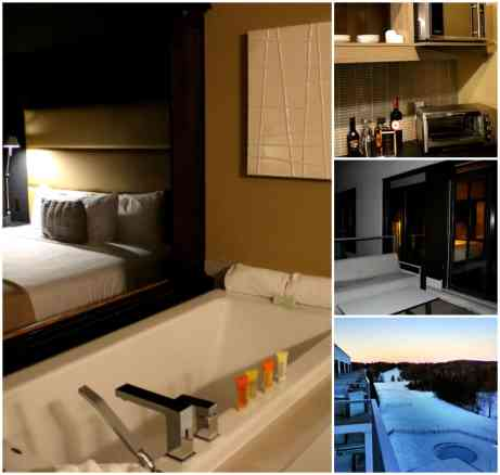 Esterel Resort Lakefront Suite- room and balcony