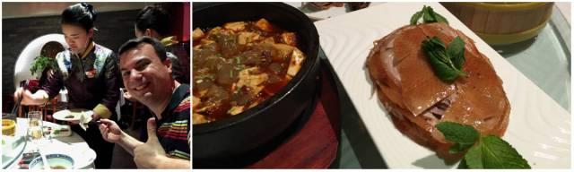 Peking duck dinner at Siji Minfu, Beijing, China