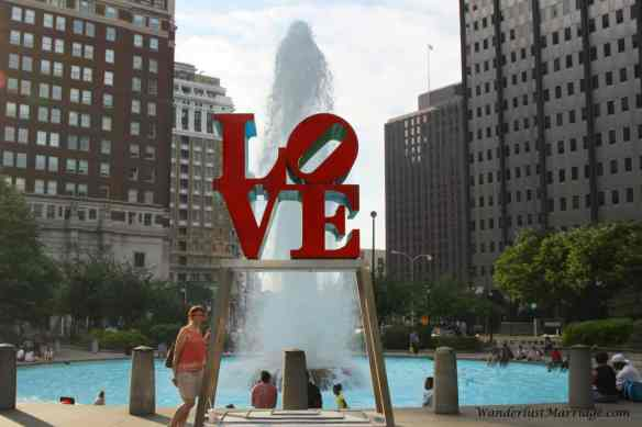 Philly - Love monument and fountain