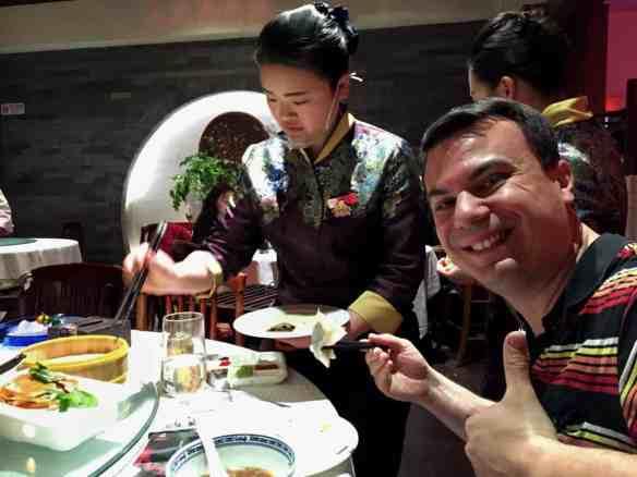Peking duck service at Sijiminfu, people of Beijing