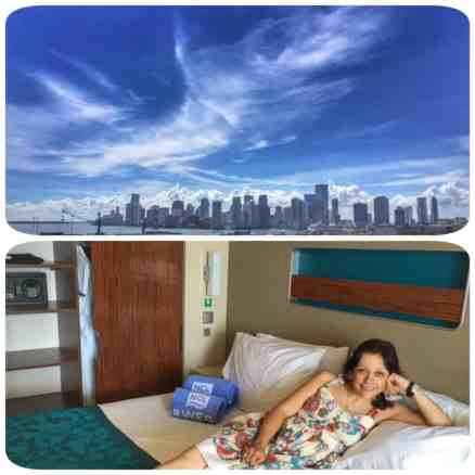 Miami port & NCL stateroom