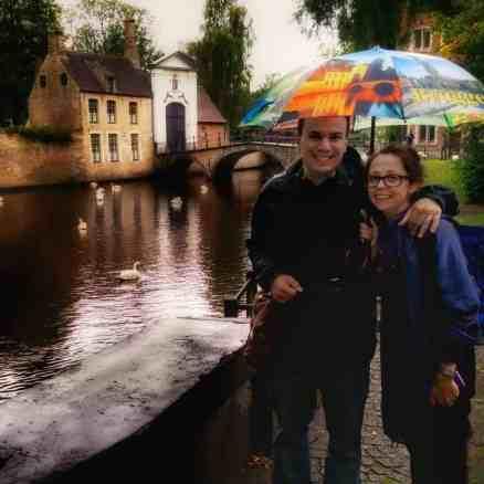Brugge, Belgium in the rain