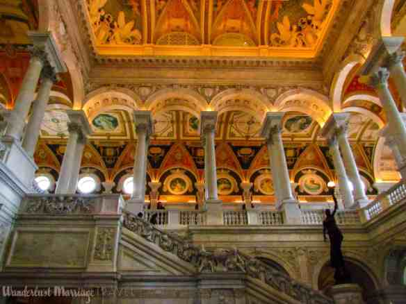 Orniate stairs at the library of congress