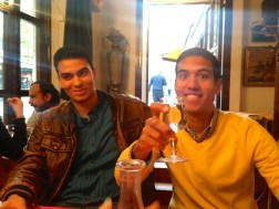 Osama and Giancarlo at the Couscous restaurant.