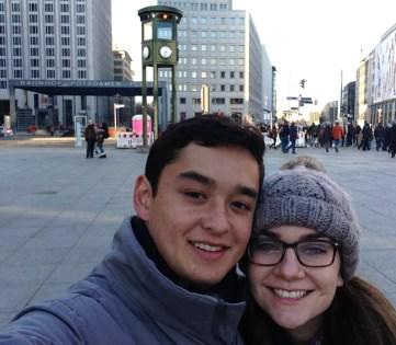 Matt and I in Potsdamer Platz