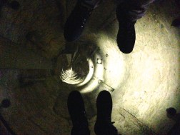 The core of the tower is hollow so we got to step on the glass and look to the bottom, quite nerveracking