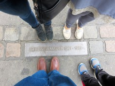 These stones commemorate where the Berlin Wall stood and trace the former border between east and west Berlin.
