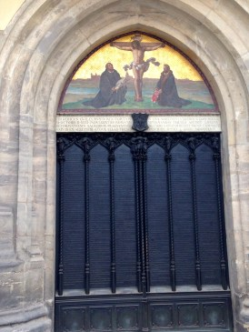 the door where Martin Luther nailed his 95 Theses