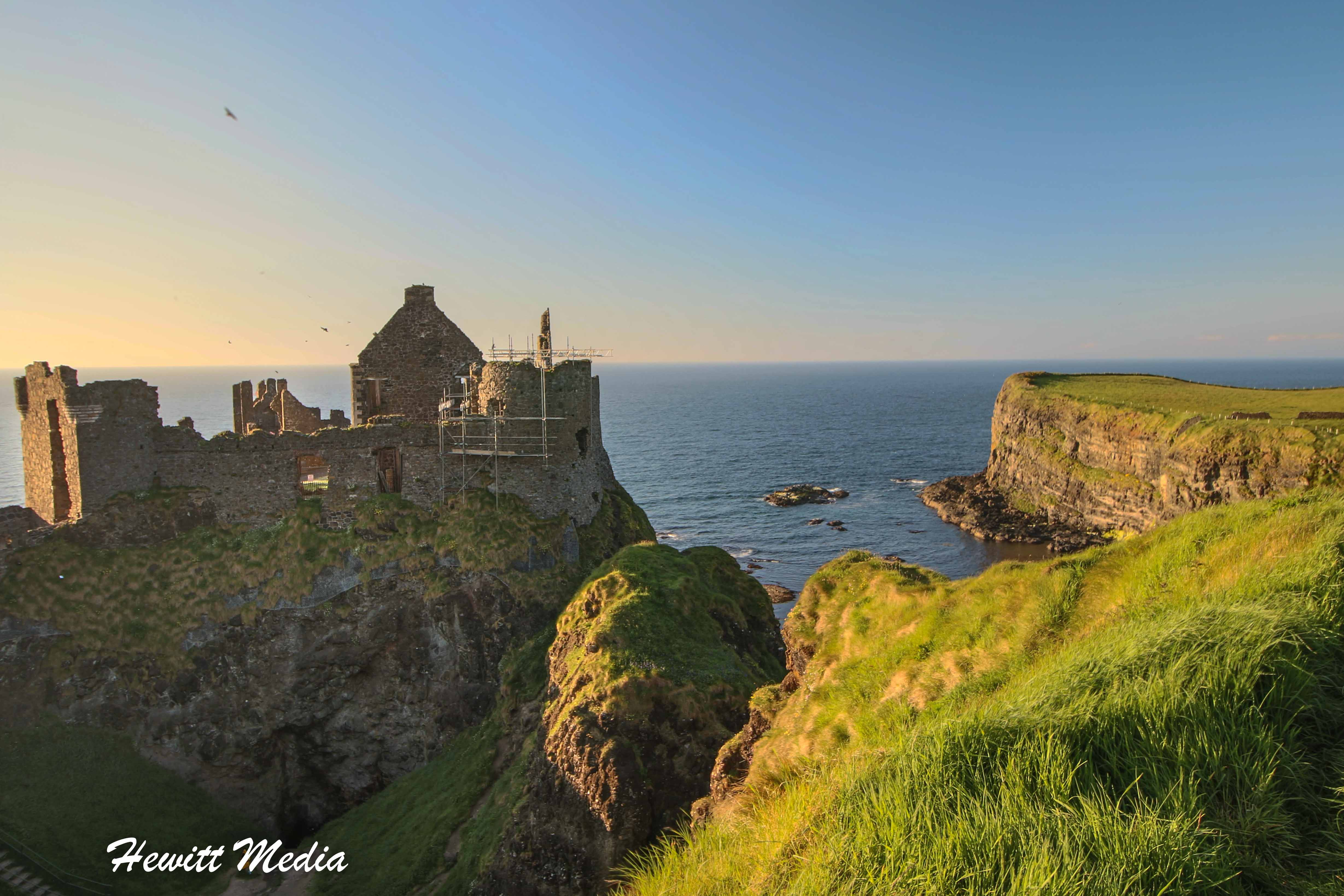 The Dunluce Castle in Northern Ireland
