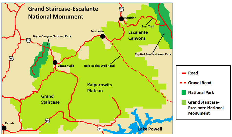 Grand Staircase Escalante Map