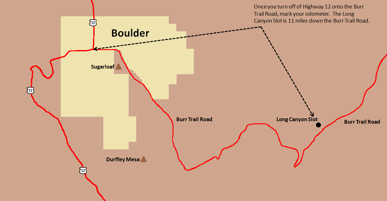 Long Canyon Slot Map