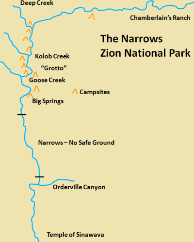 The Narrows Map