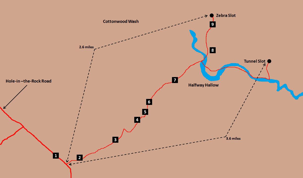 Zebra Slot Hike Map.png
