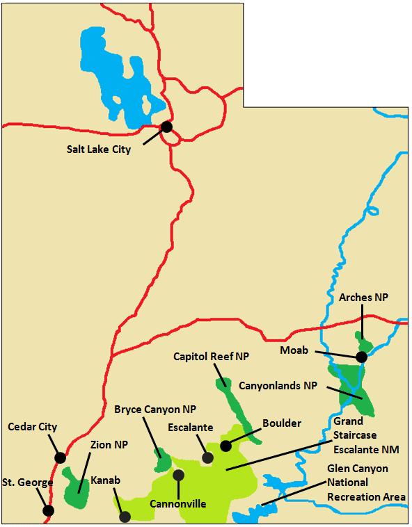 Canyonlands Area Map