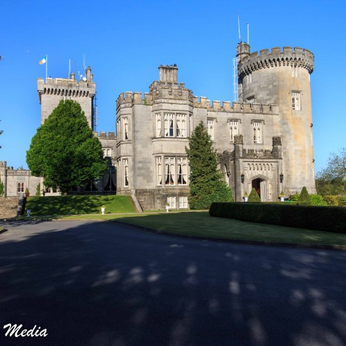The view of the Dromoland Castle Hotel as you drive up