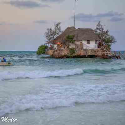 The Rock Restaurant near Paje Beach