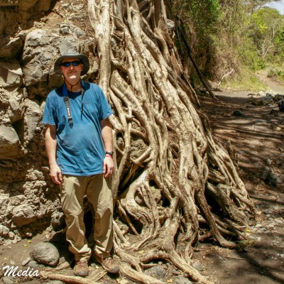 Near the Tululusia Waterfall in Arusha National Park