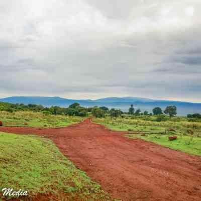 Driving thru the Ngorongoro Conservation Area