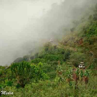 Descening inside the Ngorongoro Crater