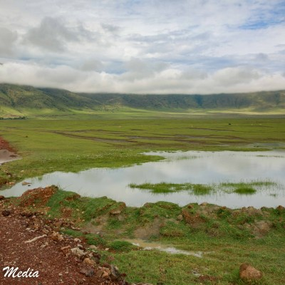 The Ngorongoro Crater has water in it year round