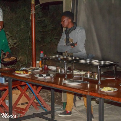 Preparing food in the Serengeti National Park