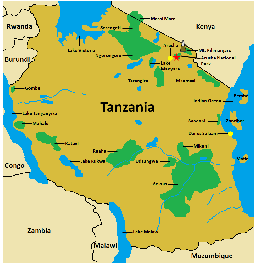 Tanzania Park Maps - Arusha.png