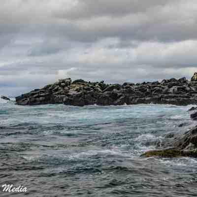 Waves off of Isabela Island.