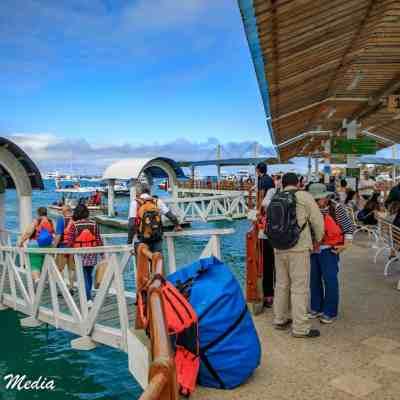 The docks on Santa Cruz Island.