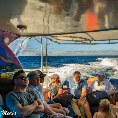 Our speed boat ride from Santa Cruz to Isabela Island.