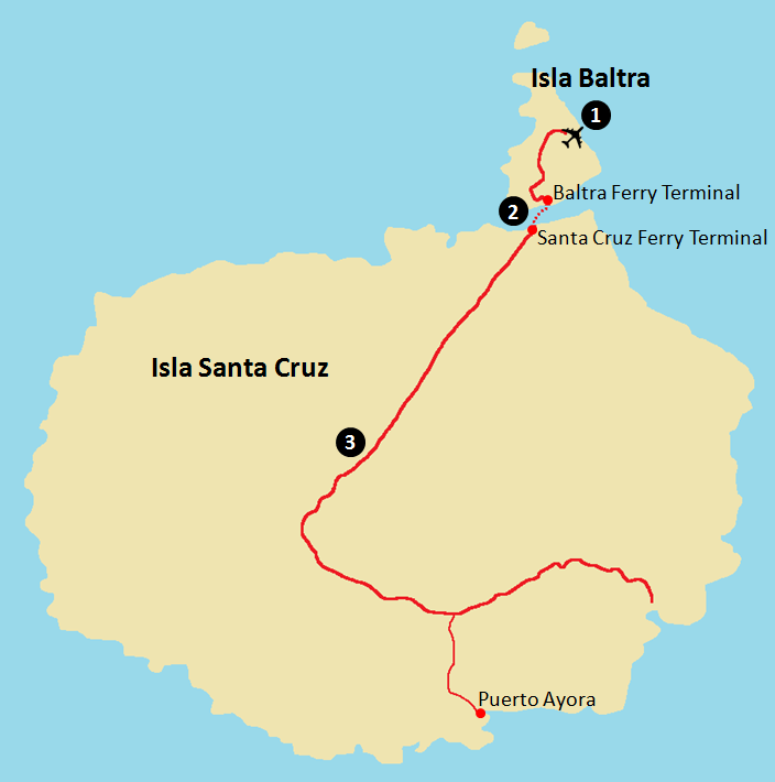Getting to Galapagos - Baltra and Santa Cruz Map.png
