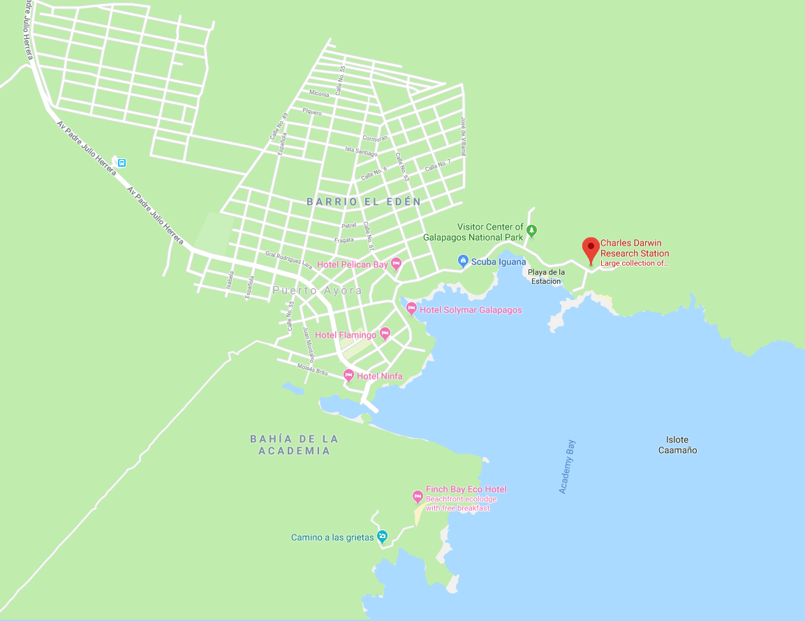Charles Darwin Research Station Map