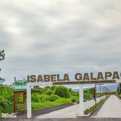 Entering the national park on Isabela Island.