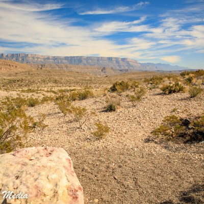 Beautiful vista inside Big Bend National Park