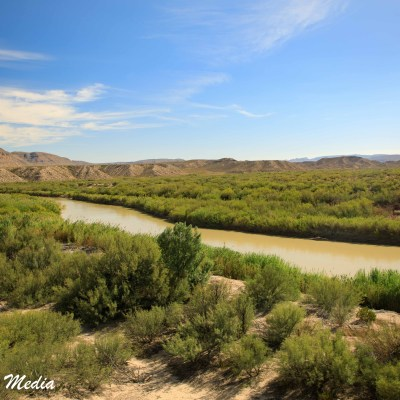 The Rio Grande River inside Big Bend National Park