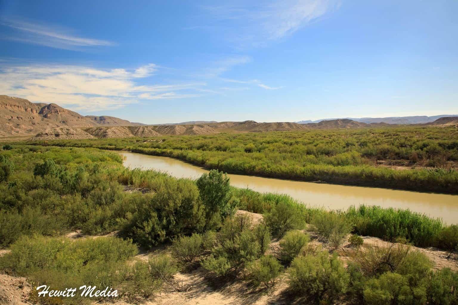 The Rio Grande River inside Big Bend National Park