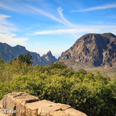 A beautiful vista inside Big Bend National Park